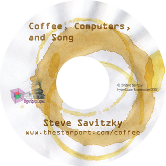 cd label: coffee stains